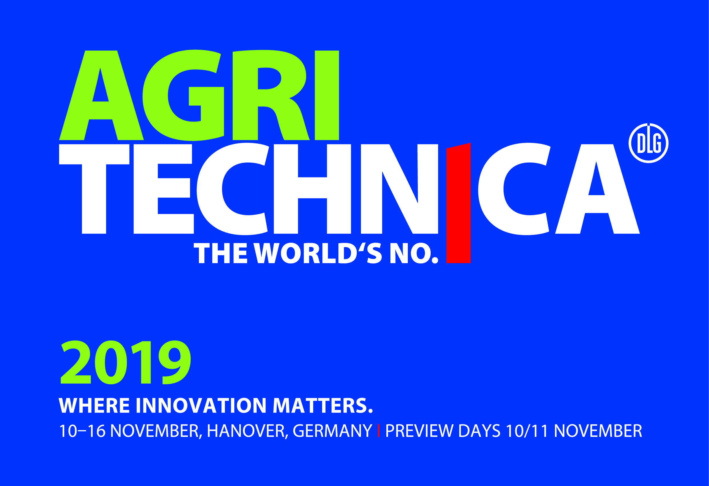 We are excited to be exhibiting at Agritechnica 2019!