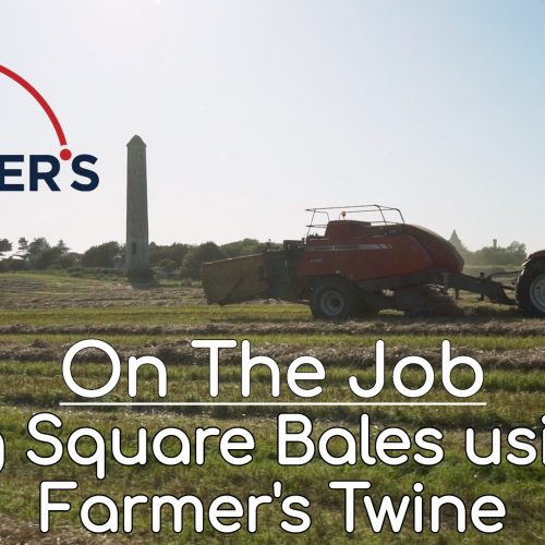 On The Job // Big Square Bales using Farmer's Twine